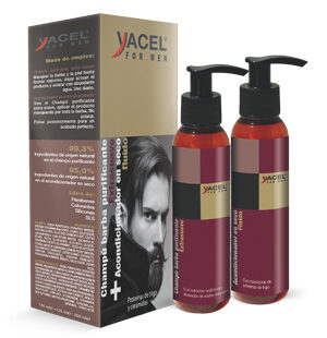 Purifying shampoo and mustache conditioner